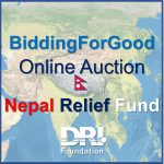 BiddingForGood Nepal Earthquake Relief Fund Banner Image