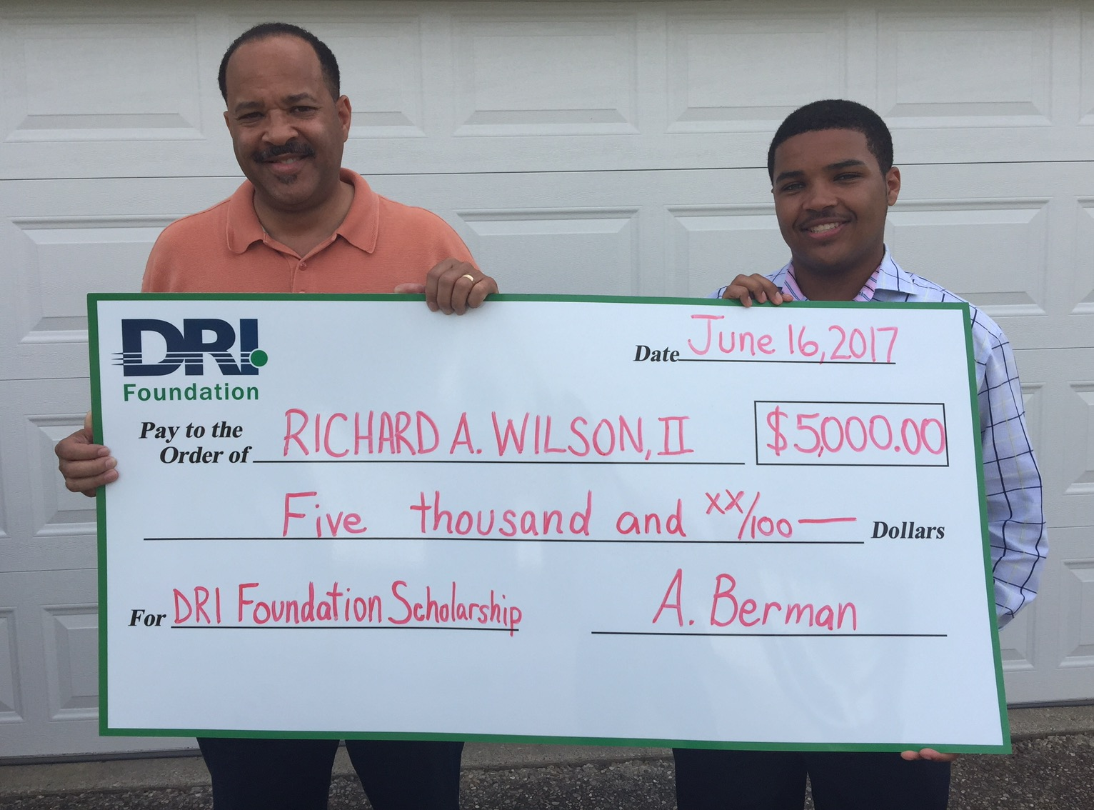 DRI Foundation - High School Scholarship Winner